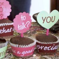 Relationship Cupcake Wrappers + Toppers