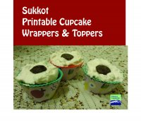 Sukkot Cupcake Wrappers + Toppers