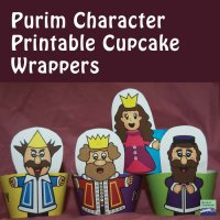 Purim Character Cupcake Wrappers